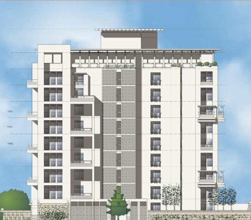 jaypee green earth court project tower view1