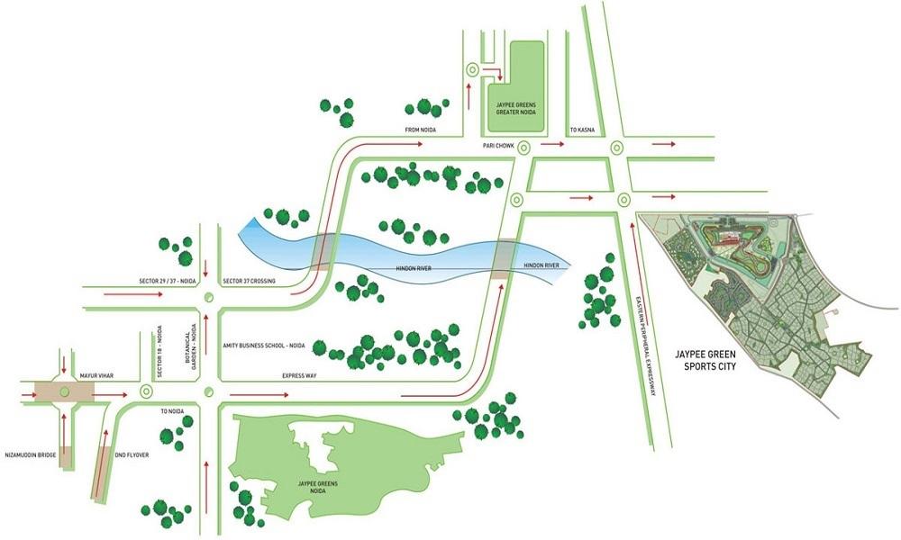 jaypee green jade apartments project location image1