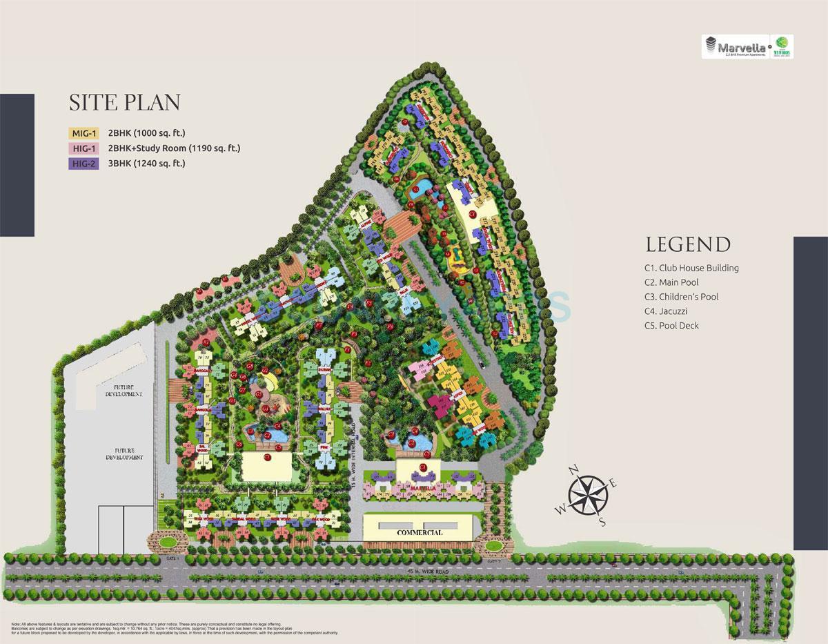 mahagun mywoods master plan image1