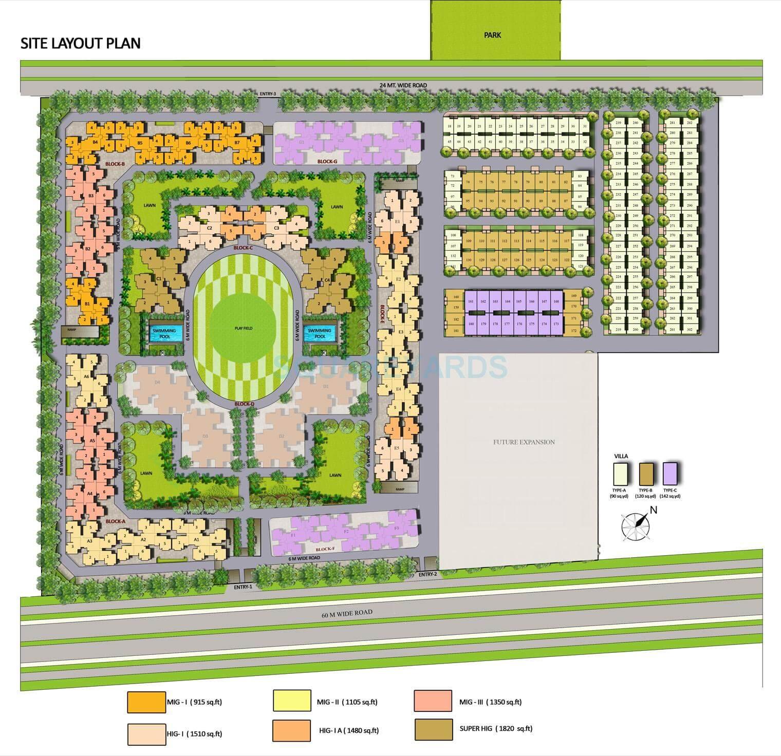 panchsheel greens ii master plan image1