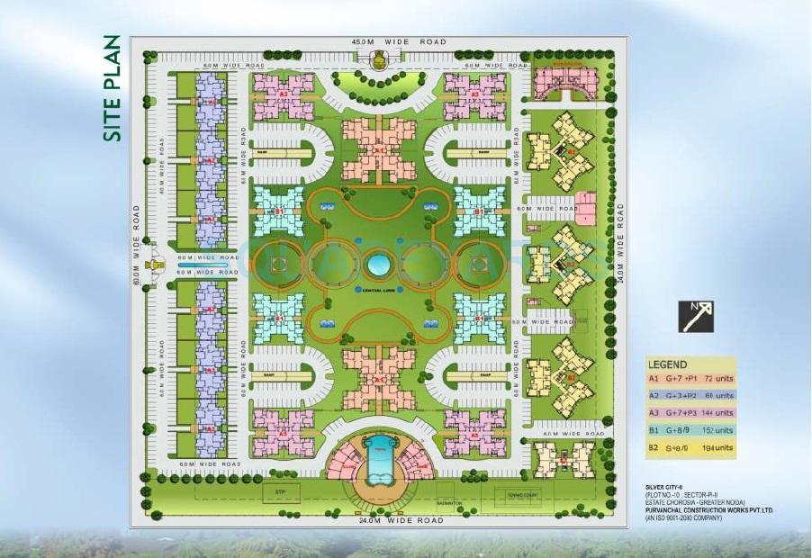 purvanchal silver city ii master plan image1