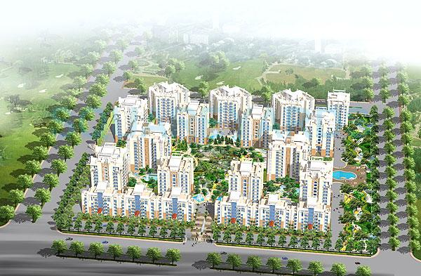 purvanchal silver city ii tower view1