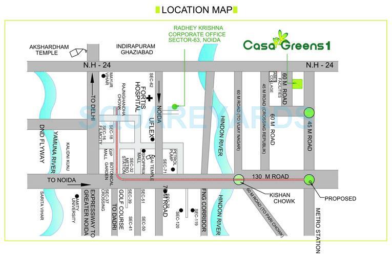 radhey krishna casa green i location image1