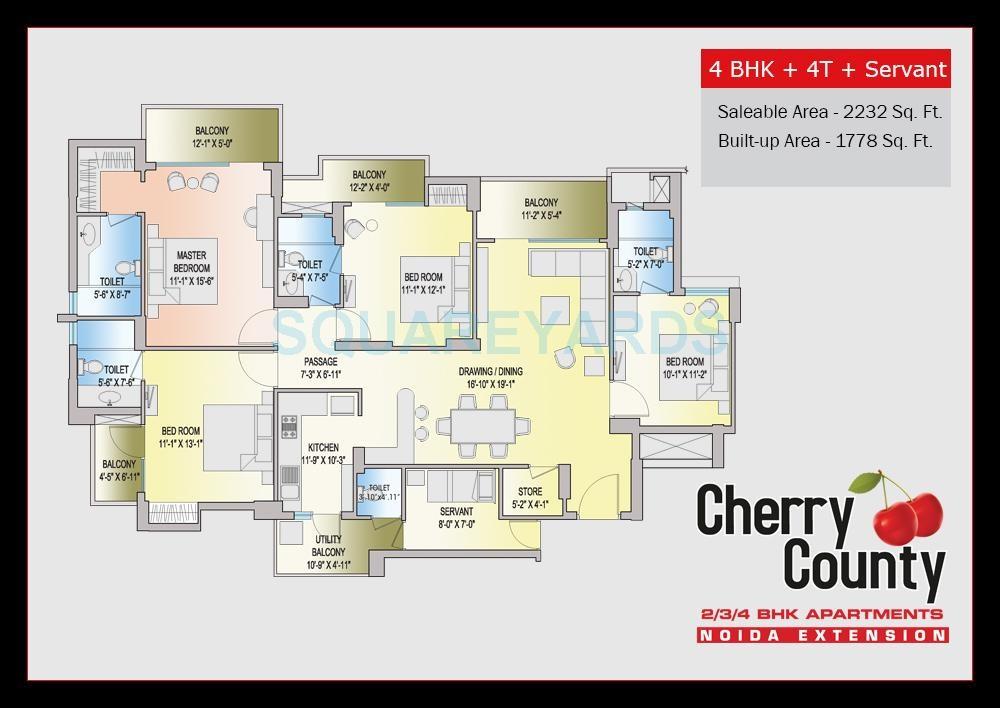 aba cherry county apartment 4bhk sq 2232sqft 51