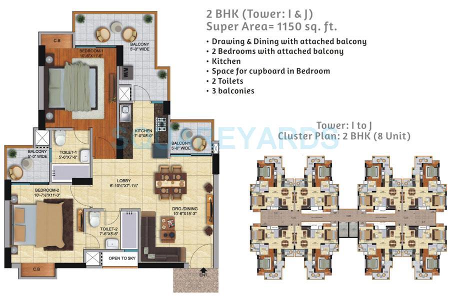 ace city apartment 2bhk 1150sqft 1