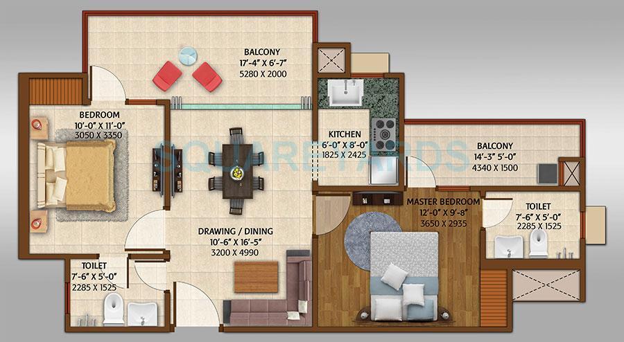 ace platinum apartment 2bhk 1050sqft 1
