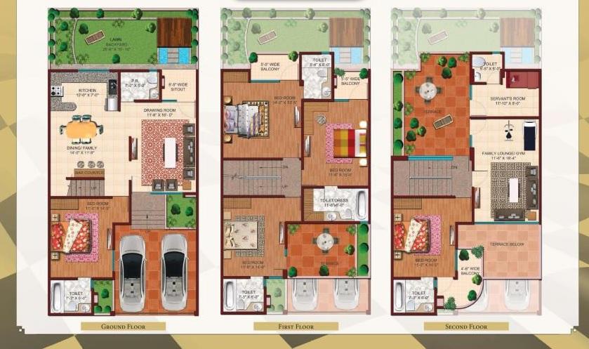 ajnara london square villa 5bhk 4570sqft 20202023202015