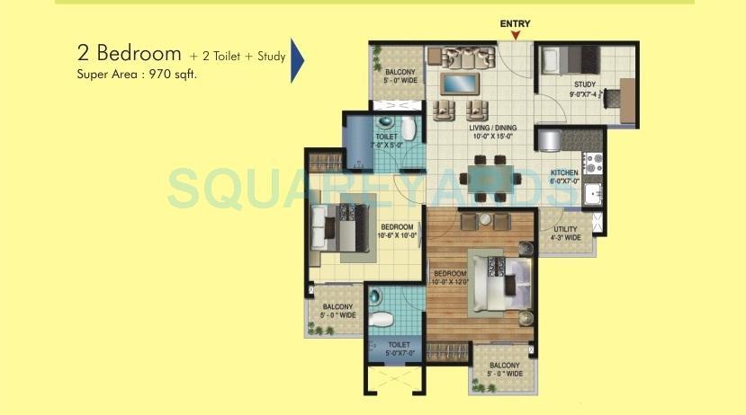 amrapali apex court apartment 2bhk st 970sqft 1