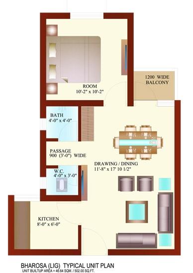 ansal megapolis aasra avom bharosa apartment 1 bhk 502sqft 20203416113403