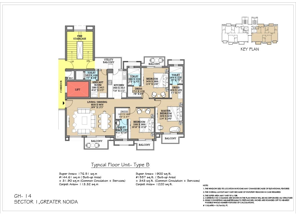 3 Bhk 1220 Sq Ft Apartment For Sale In Ats Destinaire At Rs 51 85 L Greater Noida