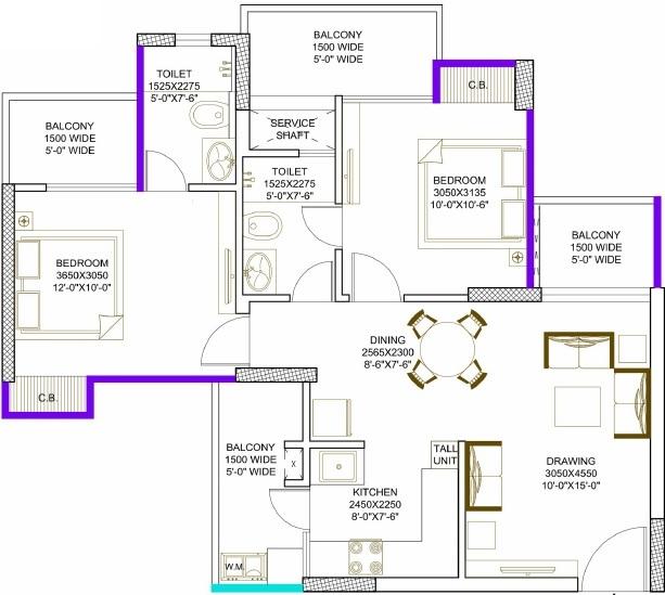 civitech strings apartment 2 bhk 615sqft 20215010125011