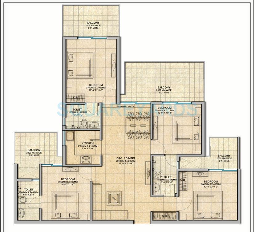gaur atulyam apartment 4bhk 1600sqft 20205026155036