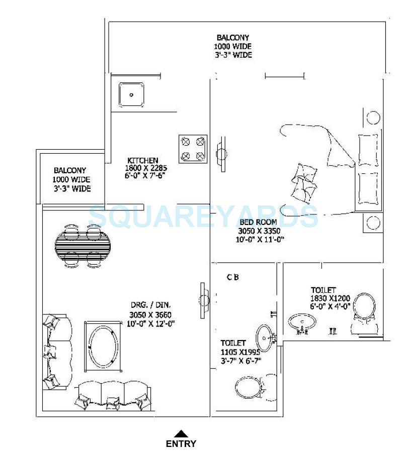gaur city 2 sanskriti vihar apartment 1bhk 555sqft 1