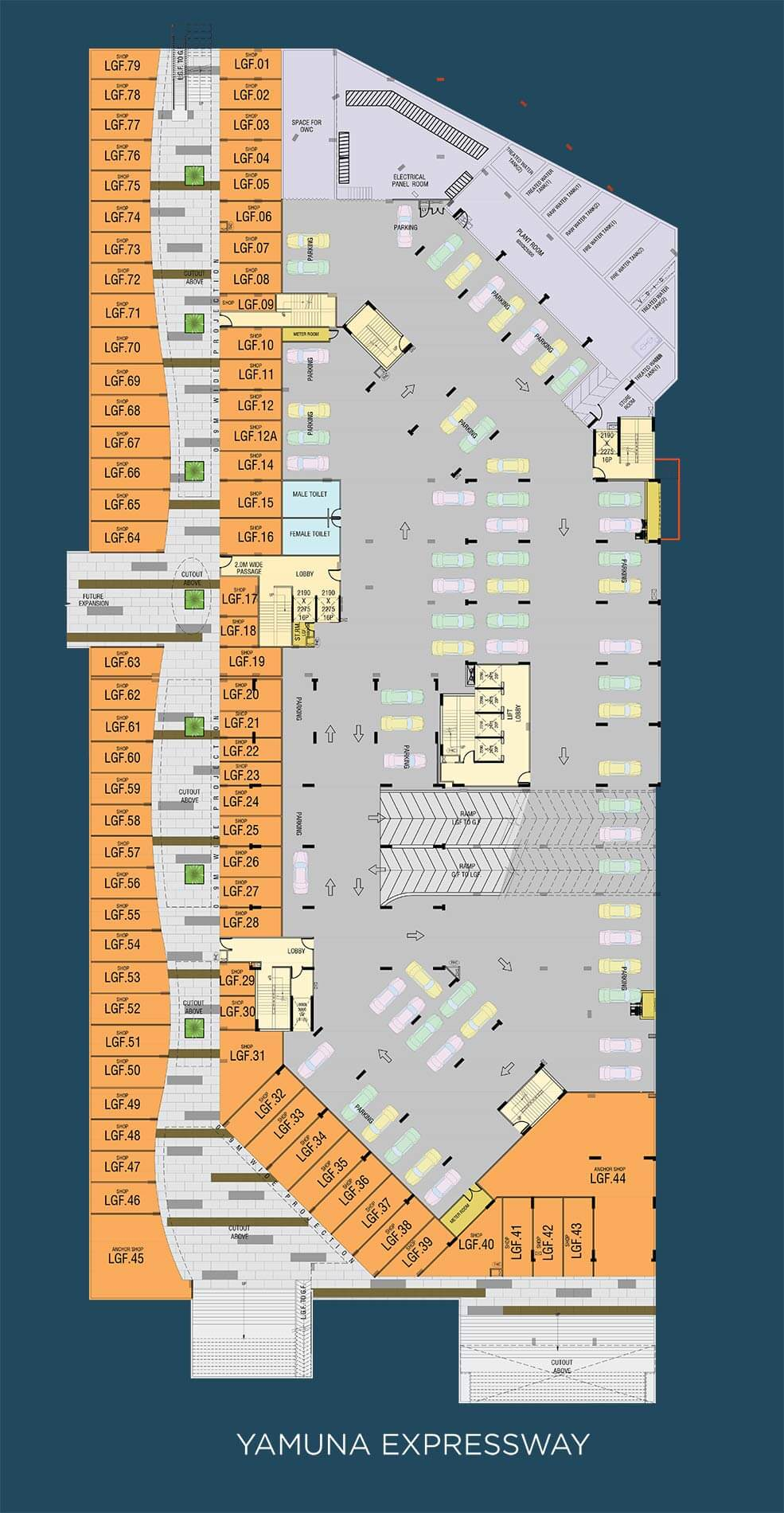 gaur the hub retail shop 3500sqft 1