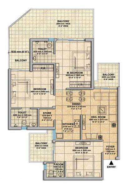 gaur yamuna city 16th park view apartment 3bhk 1475sqft 1