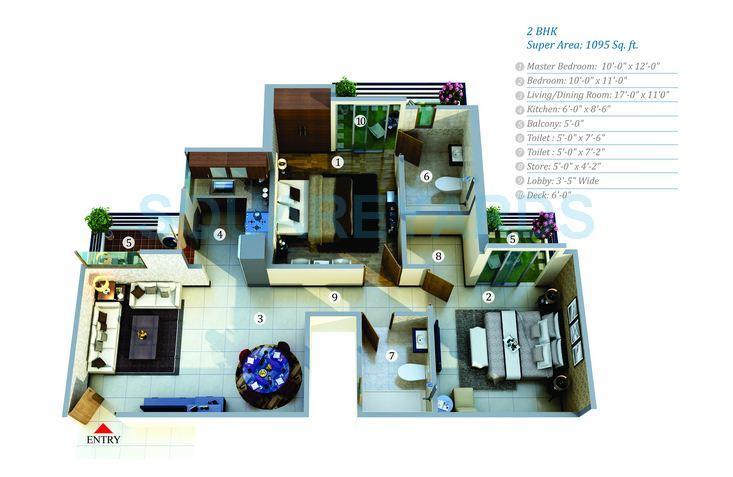 gayatri life apartment 2bhk 1095sqft 1