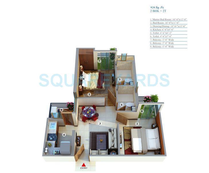 gayatri life apartment 2bhk 920sqft 1