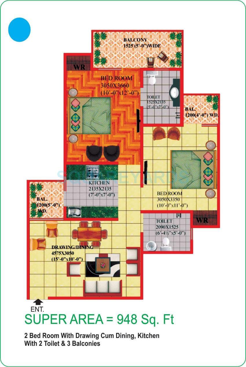 himalaya pride apartment 2bhk 948sqft 51