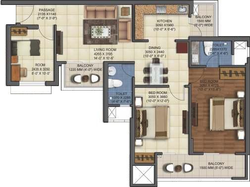 mahagun mywoods apartment 2bhk 1290sqft71