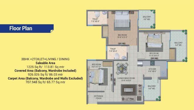migsun wynn twinz apartment 3bhk 1225sqft 1