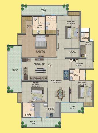 4 BHK 2134 Sq. Ft. Apartment for Sale in Migsun Wynn Twinz ...