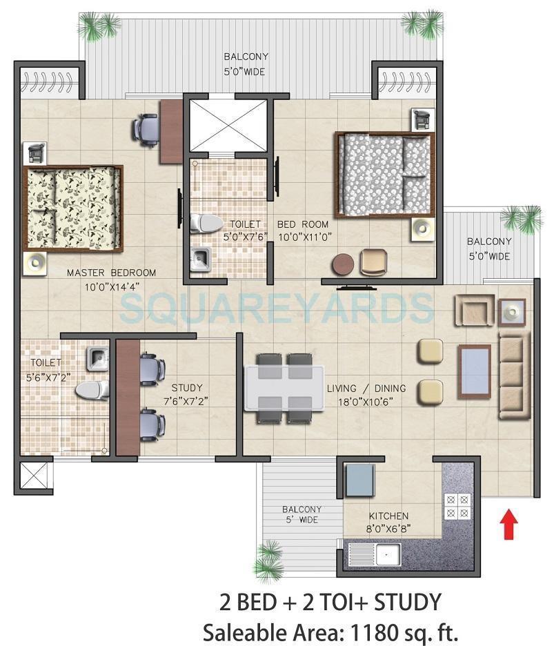 nirala aspire apartment 2bhk 1180sqft 71