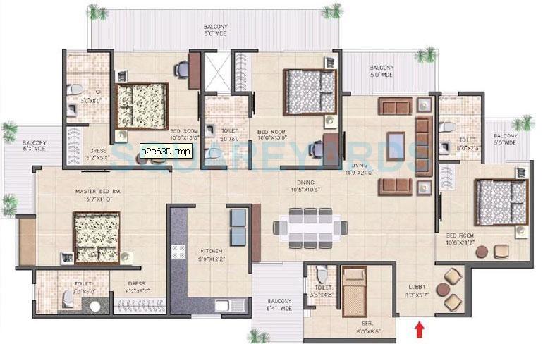 nirala aspire apartment 4bhk 2480sqft 71