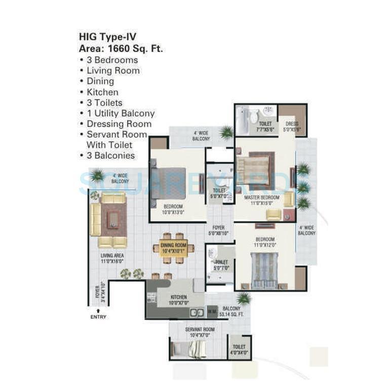 panchsheel greens apartment 3bhk sq 1660sqft 1