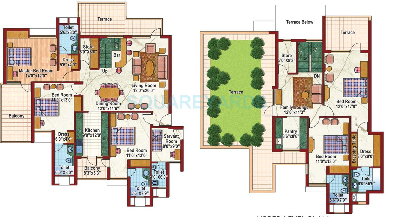 purvanchal silver city ii apartment 5bhk 2950sqft 1