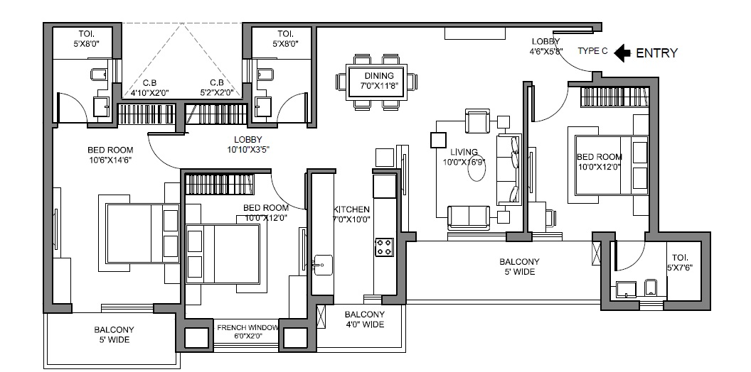 radhey krishna casa green i apartment 3bhk 1490sqft 31