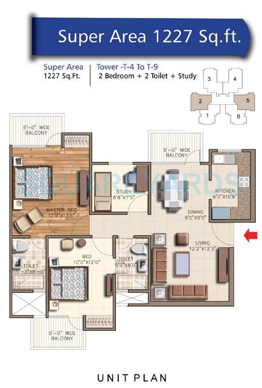 rudra aquacasa apartment 2bhk 1227sqft 1