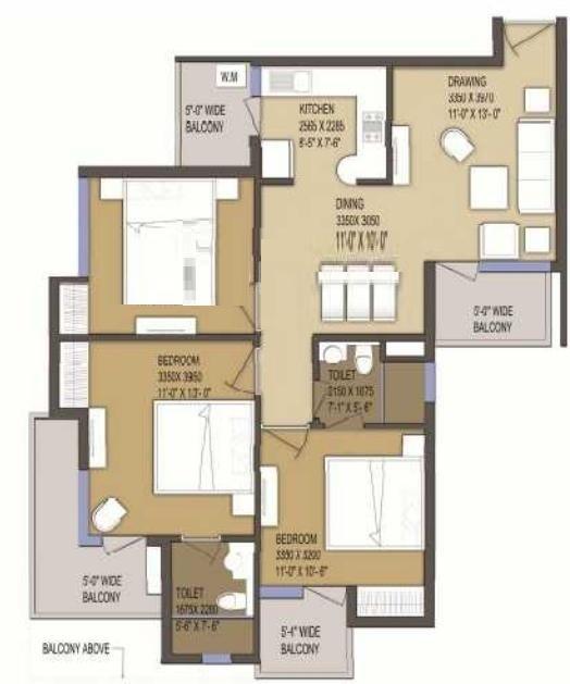 solitairian city turbo apartment 3 bhk 1373sqft 20200323140326