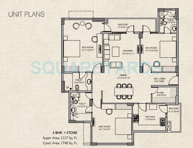 stellar mi legacy apartment 3bhk 2227sqft 21