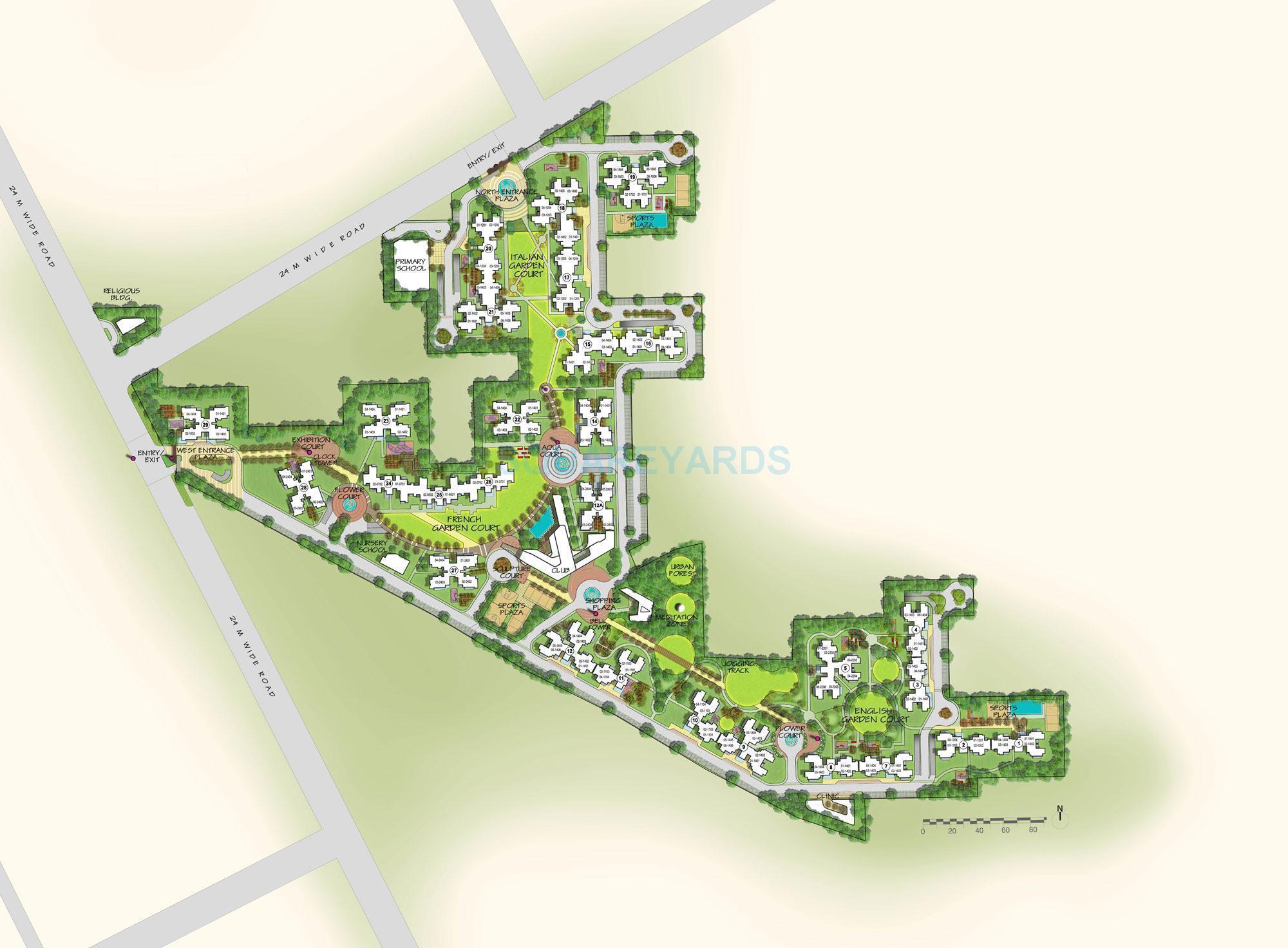 3c orris greenopolis master plan image1