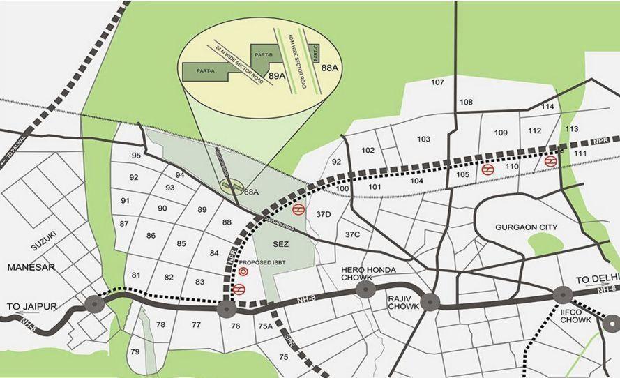 adani aangan arcade project location image1
