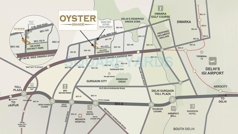adani oyster grande location image1