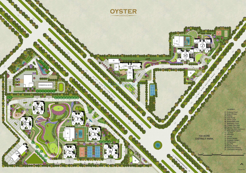 adani oyster grande master plan image1