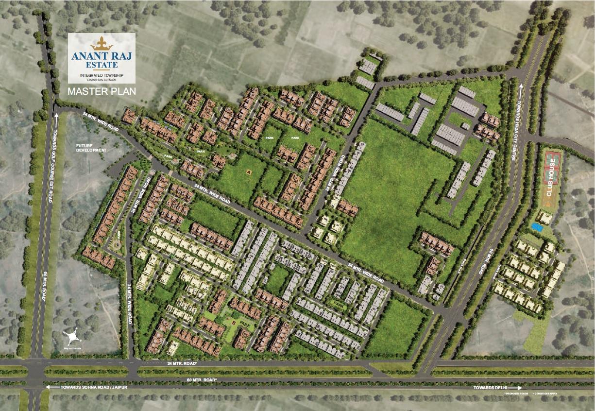 anant raj estate the villas master plan image5