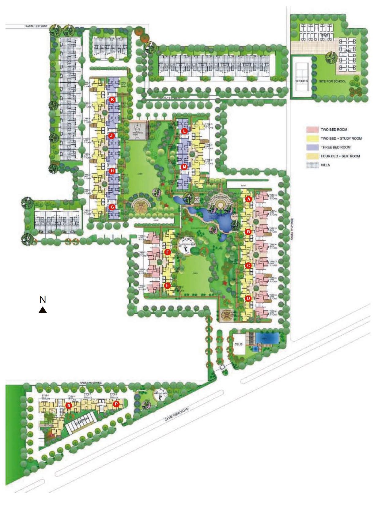 ansal api the fernhill master plan image6