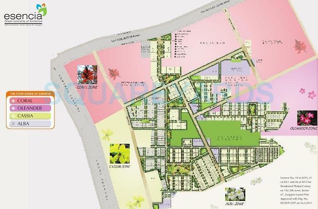 ansal eswncia amara villas master plan image1