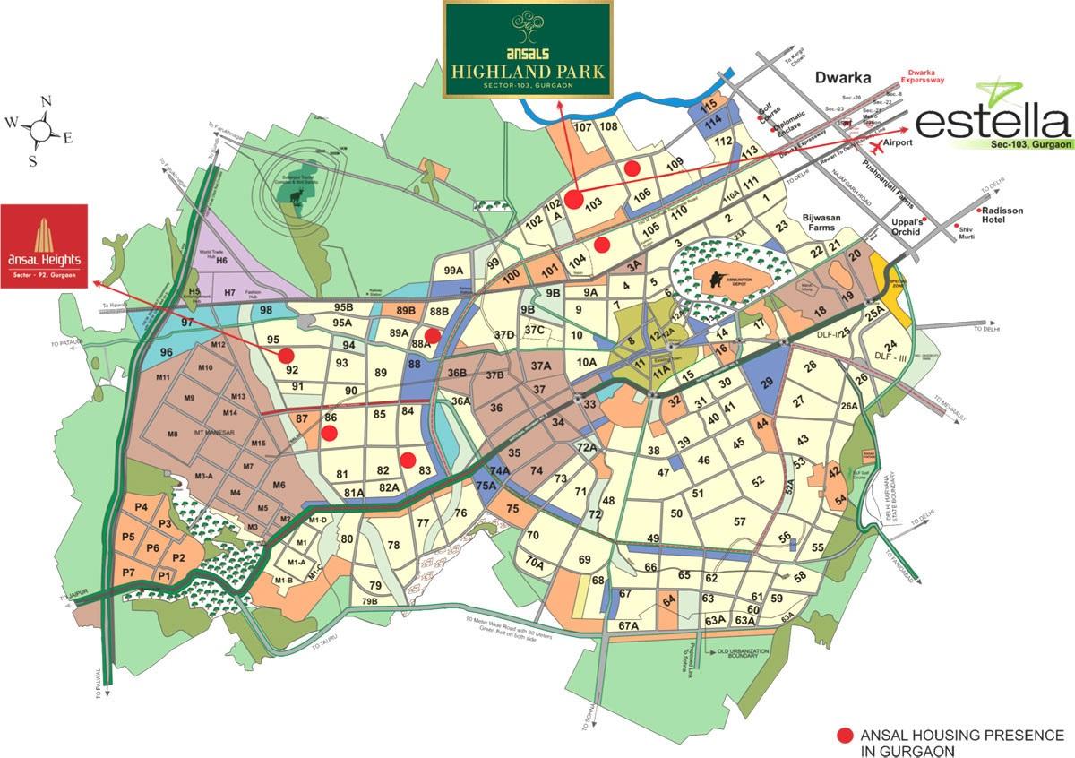 ansal highland park location image7