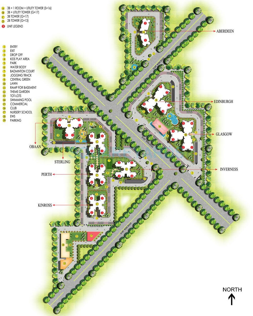 ansal highland park master plan image1