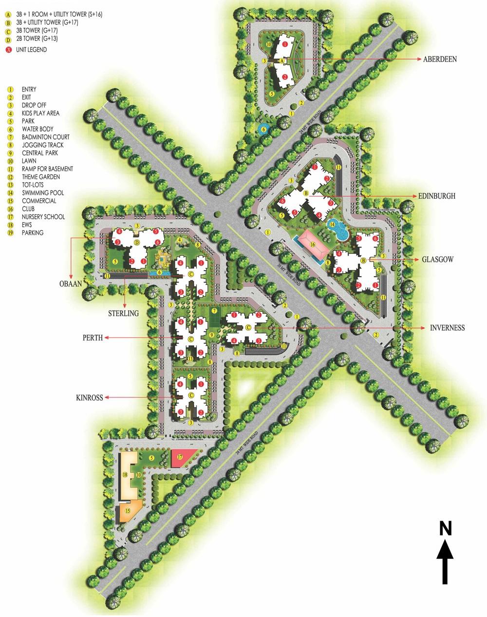 ansal highland park master plan image6