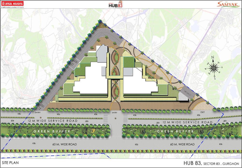 ansals hub83 master plan image1