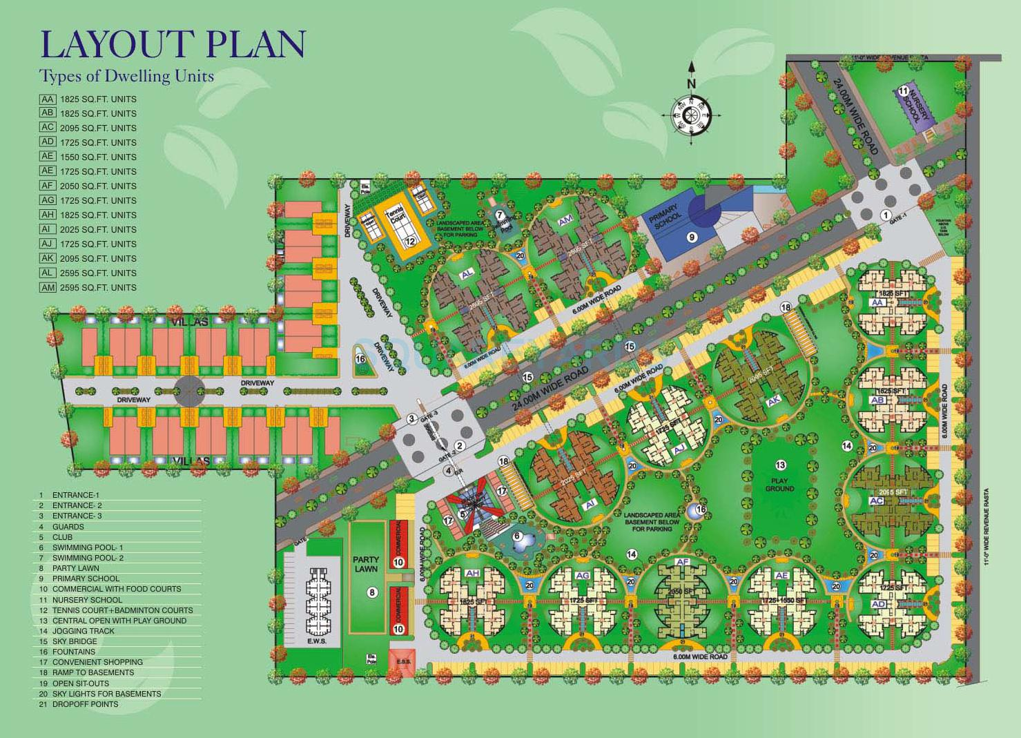 antriksh heights master plan image1