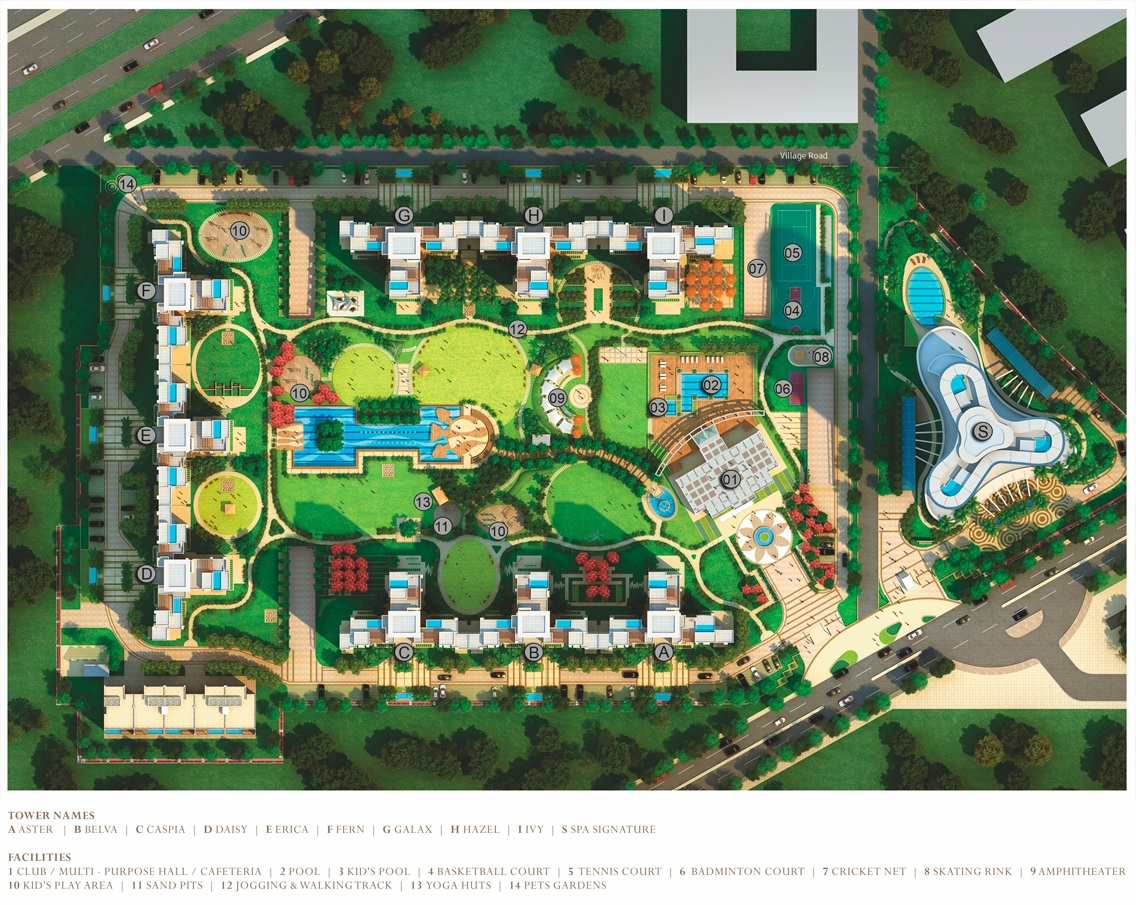 bestech park view grand spa project master plan image1