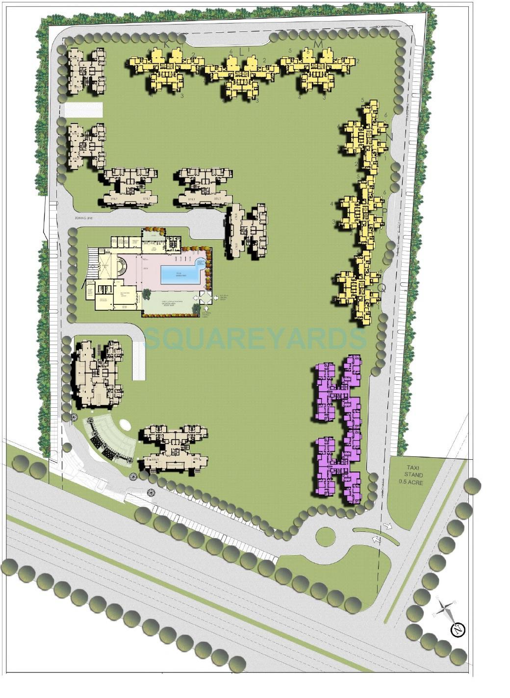 bptp spacio park serene master plan image1