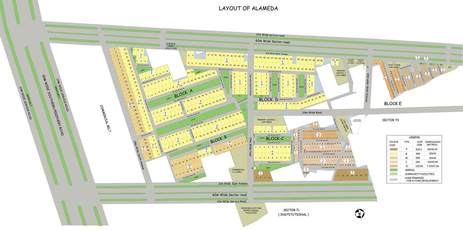 dlf alameda project master plan image1