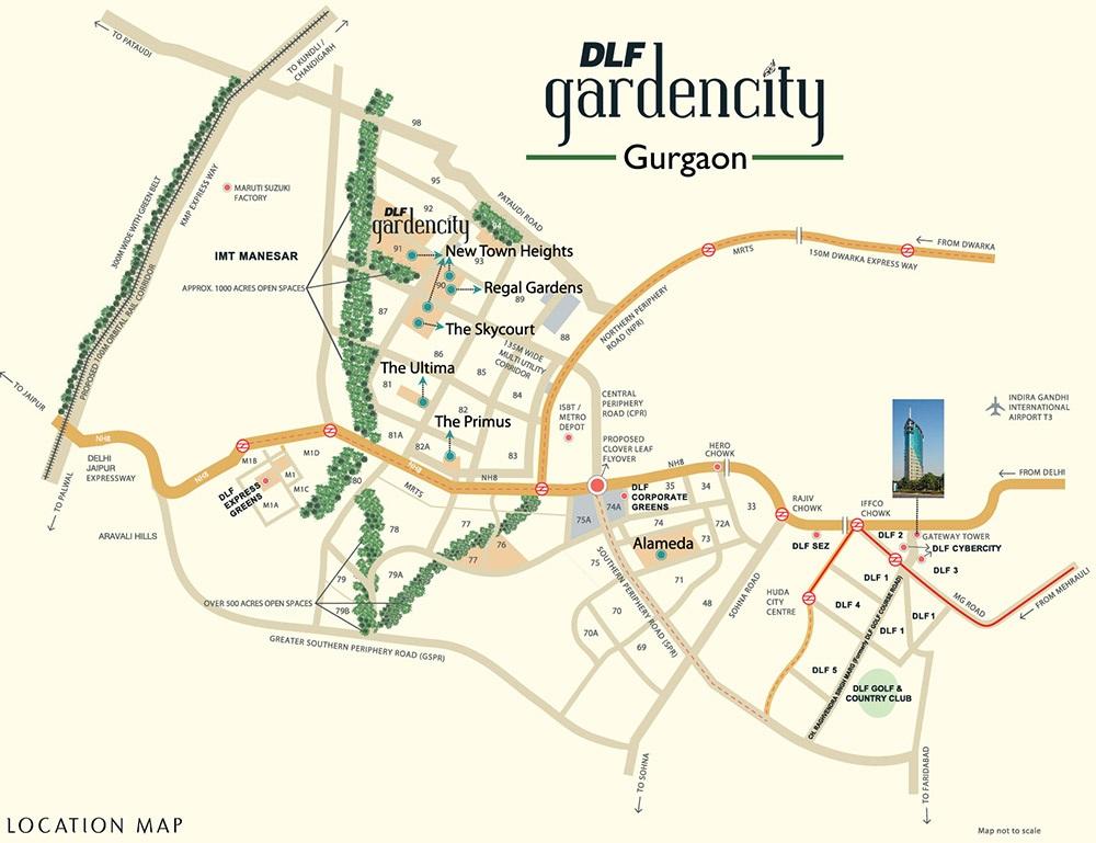 dlf garden city plots i project location image1