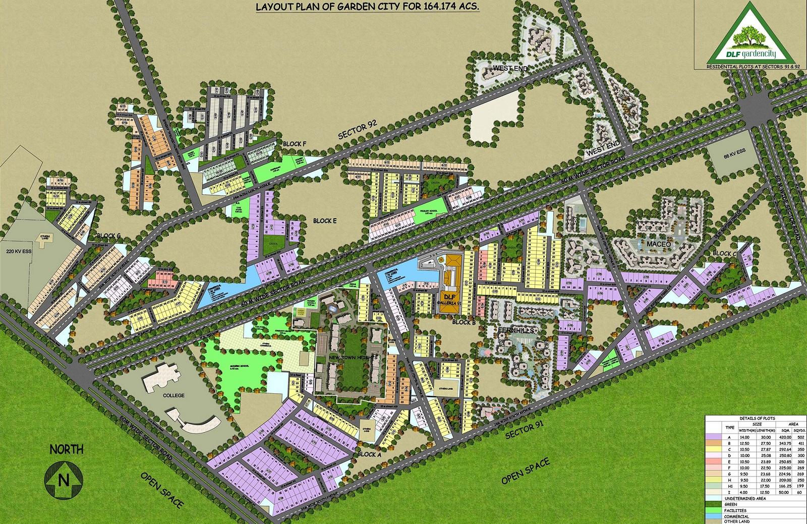 dlf garden city plots i project master plan image1